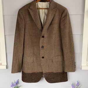 John Varvatos Unique 3 Button Wool Tweed Blazer